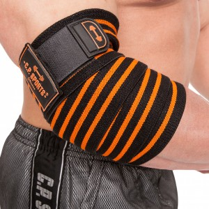 C.P. Sports Profi-Ellenbogenbandagen 130cm schwarz/orange