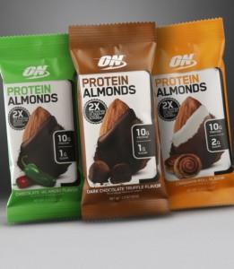 Optimum Nutrition Protein Almonds 43g Protein Mandeln mit leckerem Überzug!
