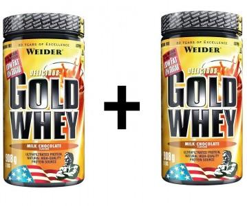 Weider Gold Whey Dose 2x908g Pulver Strawberry Cream MHD 11/19!