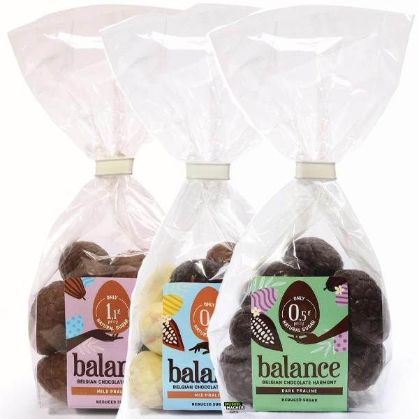 Balance low sugar Schokoeier aus belgischer Schokolade 150g Milk Praline