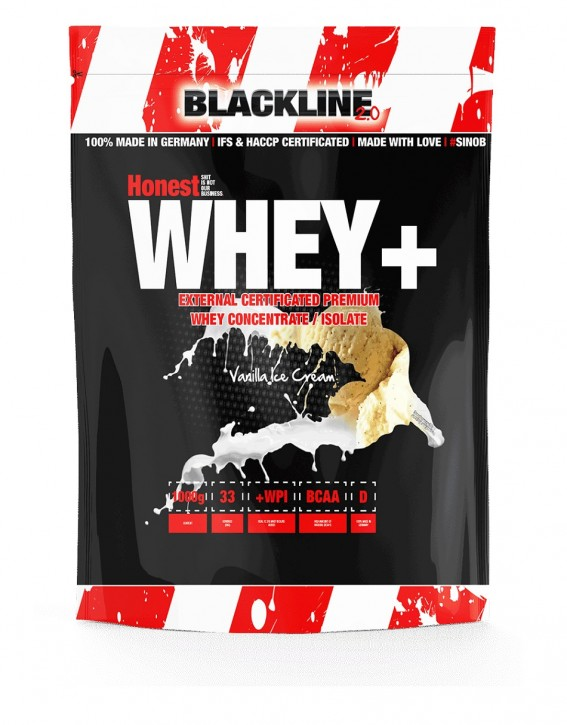 BlackLine 2.0 Honest Whey+/Milfy Beutel 1000g beschädigt!!