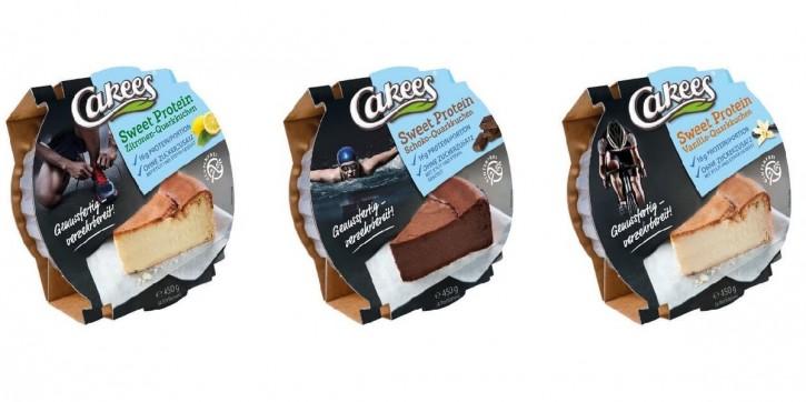Cakees Sweet Protein Quarkkuchen 450g, low carb, low sugar! NEUER VERBESSERTER GESCHMACK! Orangen-Quarkkuchen