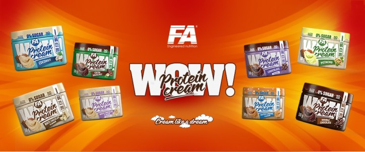 FA Nutrition WOW! Protein Creme 500g, 0 Zucker! Double Chocolate