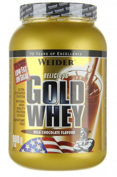 Weider Gold Whey Dose 908g Pulver Strawberry Cream