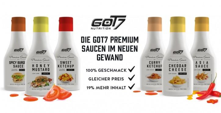 Got7 Premium Soße PET-Flasche 285ml Neu! Curry Ketchup