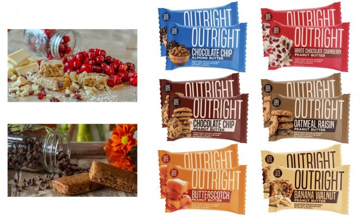 MTS Nutrition Outright Bar 60g made from Peanut Butter! Toffee Peanut Butter