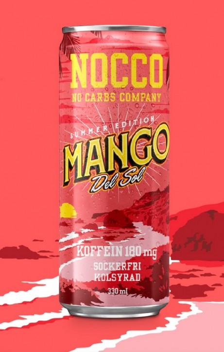 Nocco BCAA Drink 330ml mit Koffein Mango Del Sol!