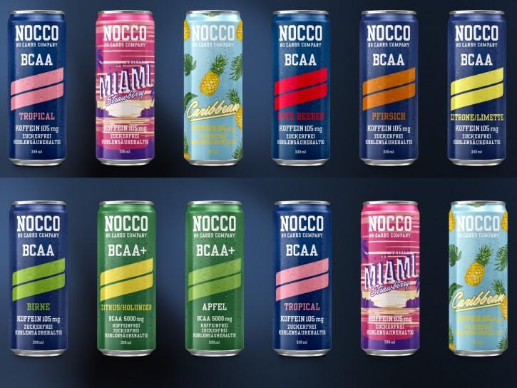 SONDERPOSTEN! Nocco BCAA Drink 330ml mit Koffein