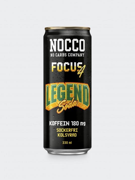 Nocco Focus 4 Drink 330ml Legend Soda mit Koffein