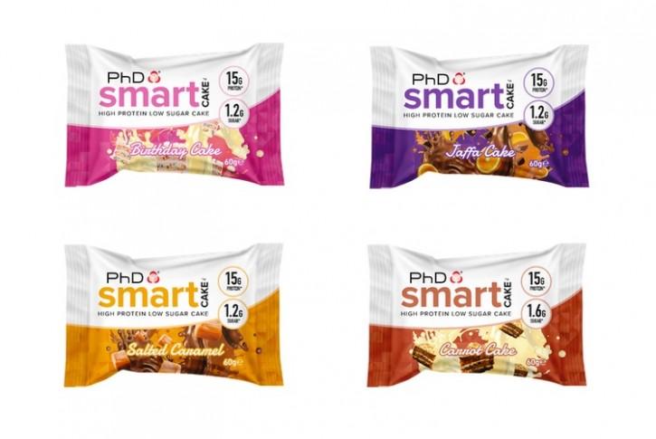 PhD Smart Cake 60g, leckere Proteinkuchen! Salted Caramel