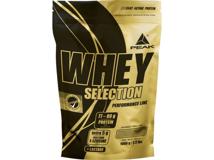 ANGEBOT Peak Whey Selection Beutel 1000g Pulver (früher Whey Fusion!)