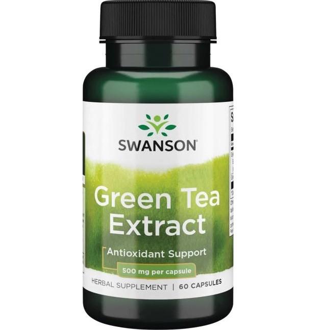 Swanson Green Tea Extract 60 Kapseln, 500mg pro Kapsel