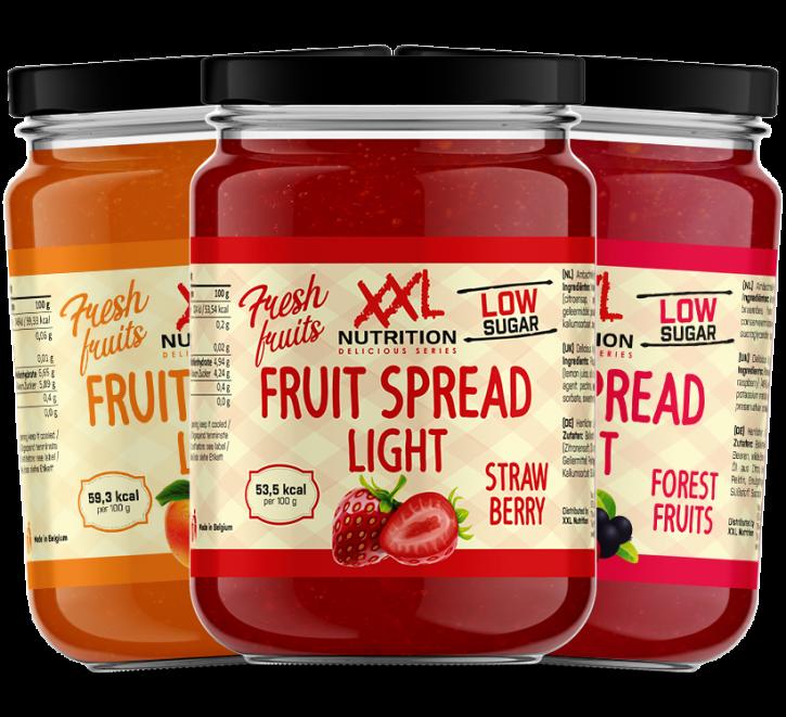 XXL Nutrition Fruit Spread light 235g, Low Carb Fruchtaufstrich, Marmelade Aprikose