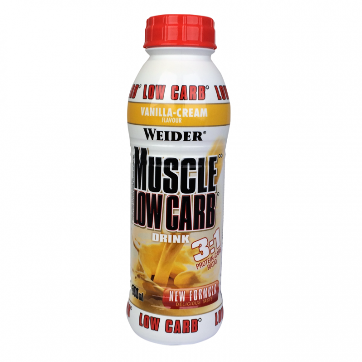 Sonderposten WEIDER Muscle Low Carb 500ml MHD 10.10.2019!!