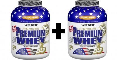 Weider Premium Whey Dose 2x2300g Pulver Fresh Banana oder Stracciatella