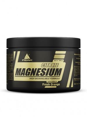 Peak Magnesium Citrate Dose 240g Pulver Orange