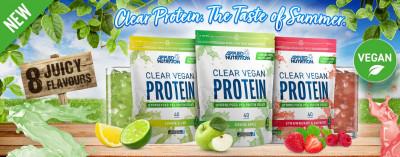 Applied Nutrition Clear Vegan Protein 600g, hydrolysiertes Erbsenproteinisolat, wie Saft!