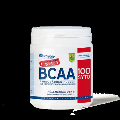 MULTI-FOOD  BCAA 100 SYTO Dose 250g Pulver