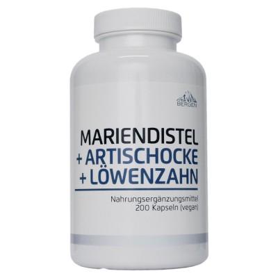 Bergen Mariendistel + Artischocke + Löwenzahn 200 Kapseln