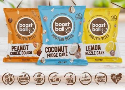 Boost Ball Protein Bites 45g, naturale Proteinbällchen Lemon Drizzle Cake