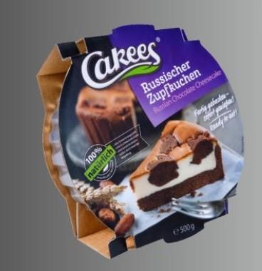 Cakees Russischer Zupfkuchen 450g, fertiger Quarkkuchen