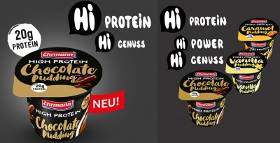 Ehrmann High Protein Pudding 200g! Becher, 20g Protein! laktosefrei