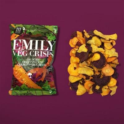 Emilycrisps Emily Veg Crisps 23g, vegane Gemüsechips