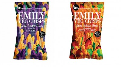 Emilycrisps Emily Veg Crisps Sweet Potatoe Sticks 35g, vegan