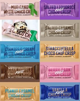 FAST Rox Protein Bar 55g, high protein, low sugar! great taste Stracciatella Choco Chip Crisp