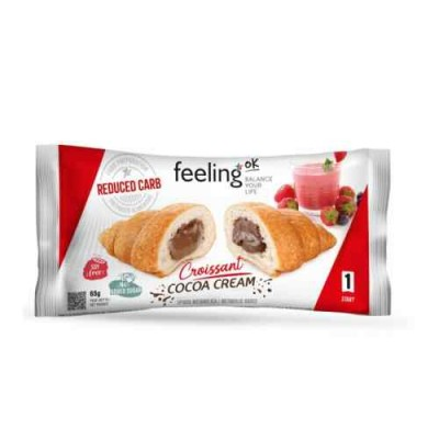 Feeling OK Reduced Carb Croissant 50g, Schokofüllung! high protein
