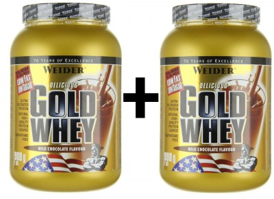 Weider Gold Whey Dose 2x908g Pulver Strawberry Cream