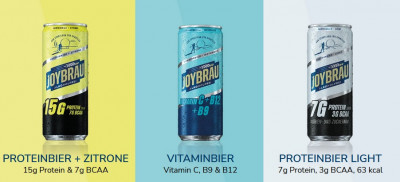 JoyBräu Alkoholfrei 330ml, isotonisch mit Protein Proteinbier & Zitrone