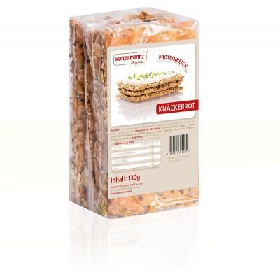 Konzelmann's Orginal Protein-Knäckebrot 130g, low Carb, nur 5,5% Kohlenhydrate!