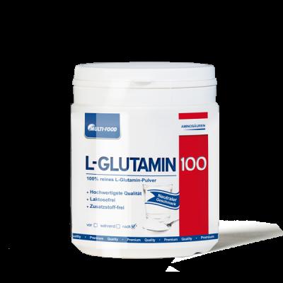 MULTI-FOOD  L-Glutamin 100% rein Dose 500g Pulver