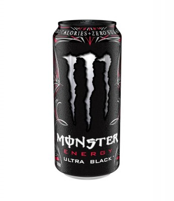 Monster Energy Drink Ultra Black 500ml Zero Sugar mit 150mg Koffein