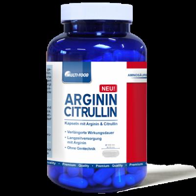 MULTI-FOOD Arginin Citrullin 160 Kapseln