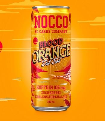 Nocco BCAA Drink 330ml mit Koffein Blood Orange Del Sol!