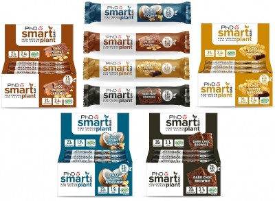 PHD Smart Plant Bar 64g Riegel, vegan & glutenfrei! Choc Toffee Popcorn