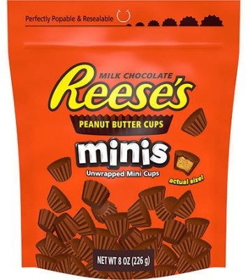 Reese's Milk Chocolate Reese's Peanut Butter Cups Minis 226g, unwrapped!