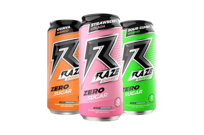 Repp Sports Raze Energy 473ml Energy Drink mit Koffein, Zero Sugar