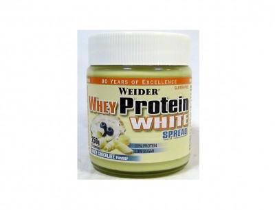 Weider Whey Protein White Spread Glas 250g Weiße-Schoko-Creme