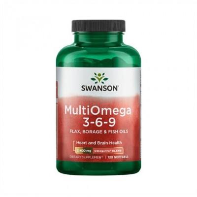 Swanson MultiOmega 3-6-9, 120 Softgelkapseln, 50% Omega 3 Anteil