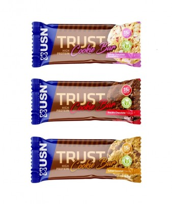 USN Trust High Protein Cookie Bar 60g, Soft-Cookie Double Chocolate
