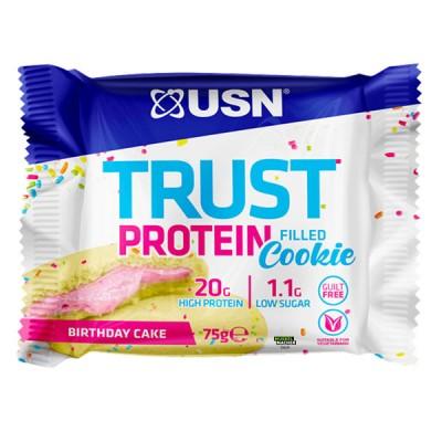 USN Trust Protein filled Cookie 75g, Softcookie mit Füllung! Cookies & Cream