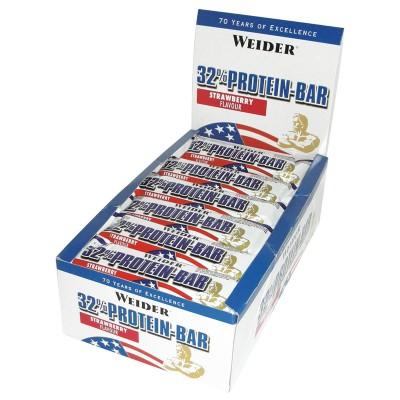 Weider 32% Protein Bar 24x60g Riegel Kiste Strawberry MHD 02/21!