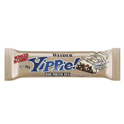Weider Yippie! 70g Riegel, Triple Chocolate Sonderposten!