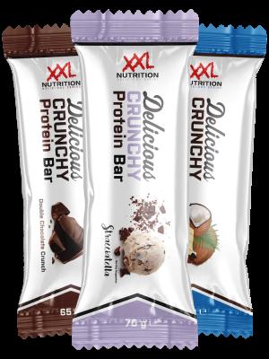 XXL Nutrition Delicious Crunchy Protein Bar 70g Riegel, 27% Protein