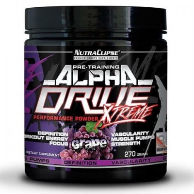 NutraClipse Alpha Drive Xtreme Dose 270g Pulver