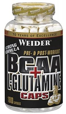 Weider BCAA+L-Glutamine Caps Dose 180 Kapseln