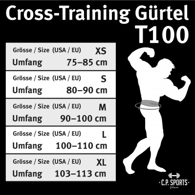 C.P. Sports Cross-Training Gürtel - Camouflage grün S - L